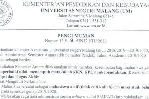 SMT ANTARA UM 2019-2020